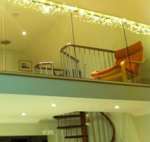 glass balustrade and stairs railing
