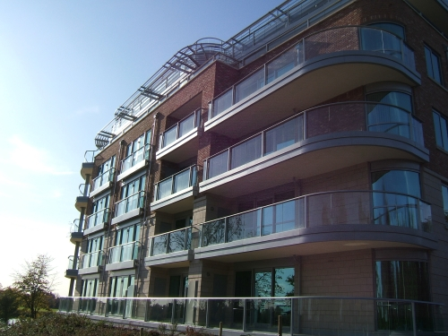 balconies over the river Trent 11