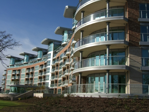 Balconies over the river Trent 12