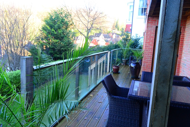 terrace glass railing