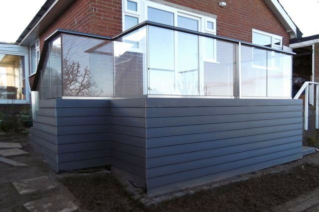 terrace glass balustrade