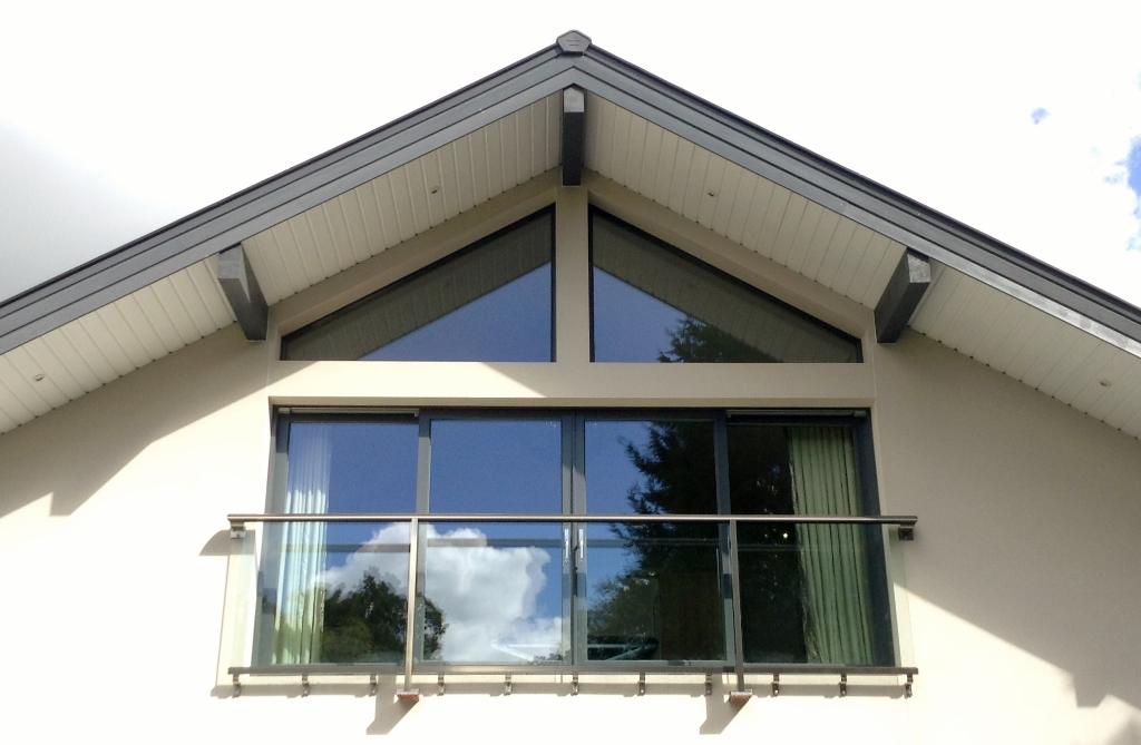 wide glass juliet balcony