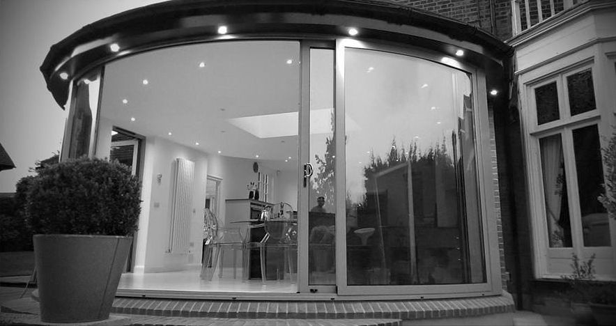 Curved Glass Sliding Doors Conservatory