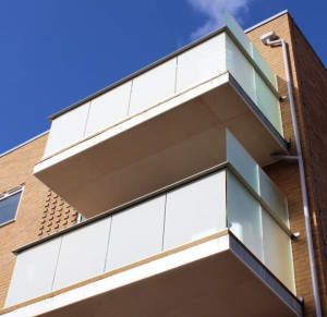 Frosted Glass Balconies