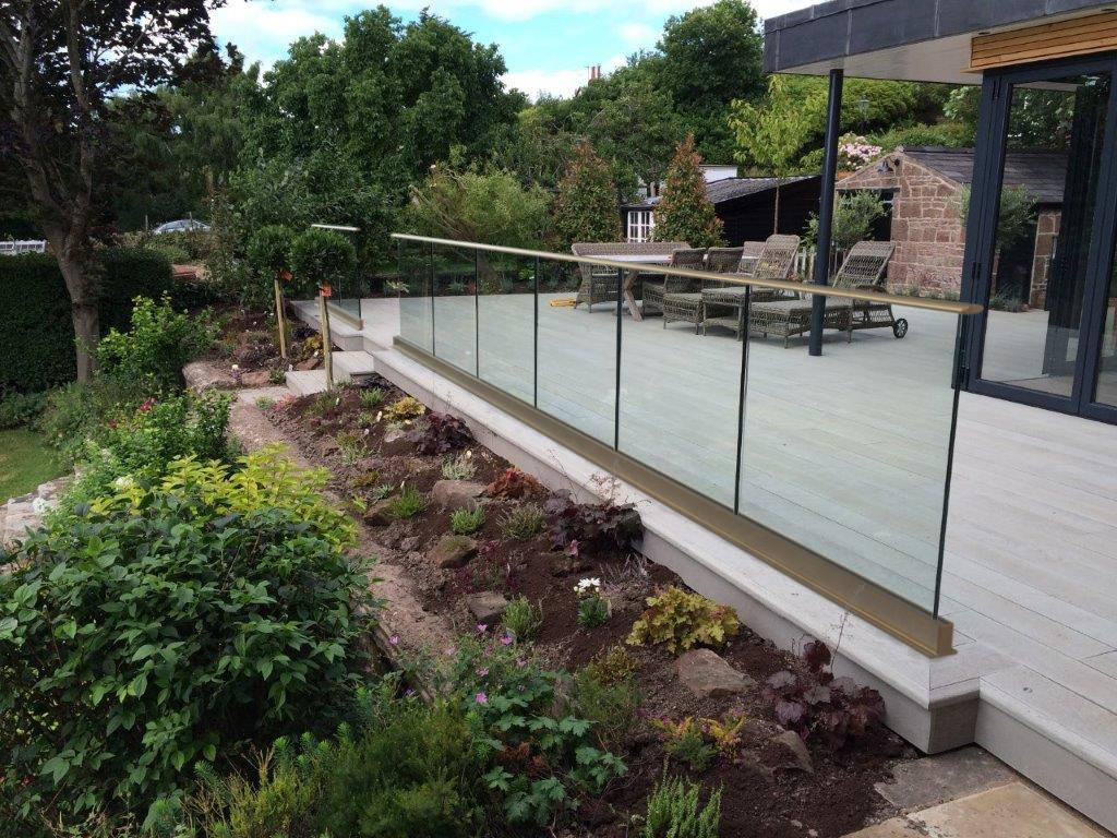 Frameless Glass Balustrade with handrail