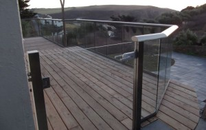 glass patio railings