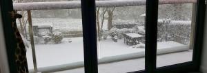 snow glass balustrade