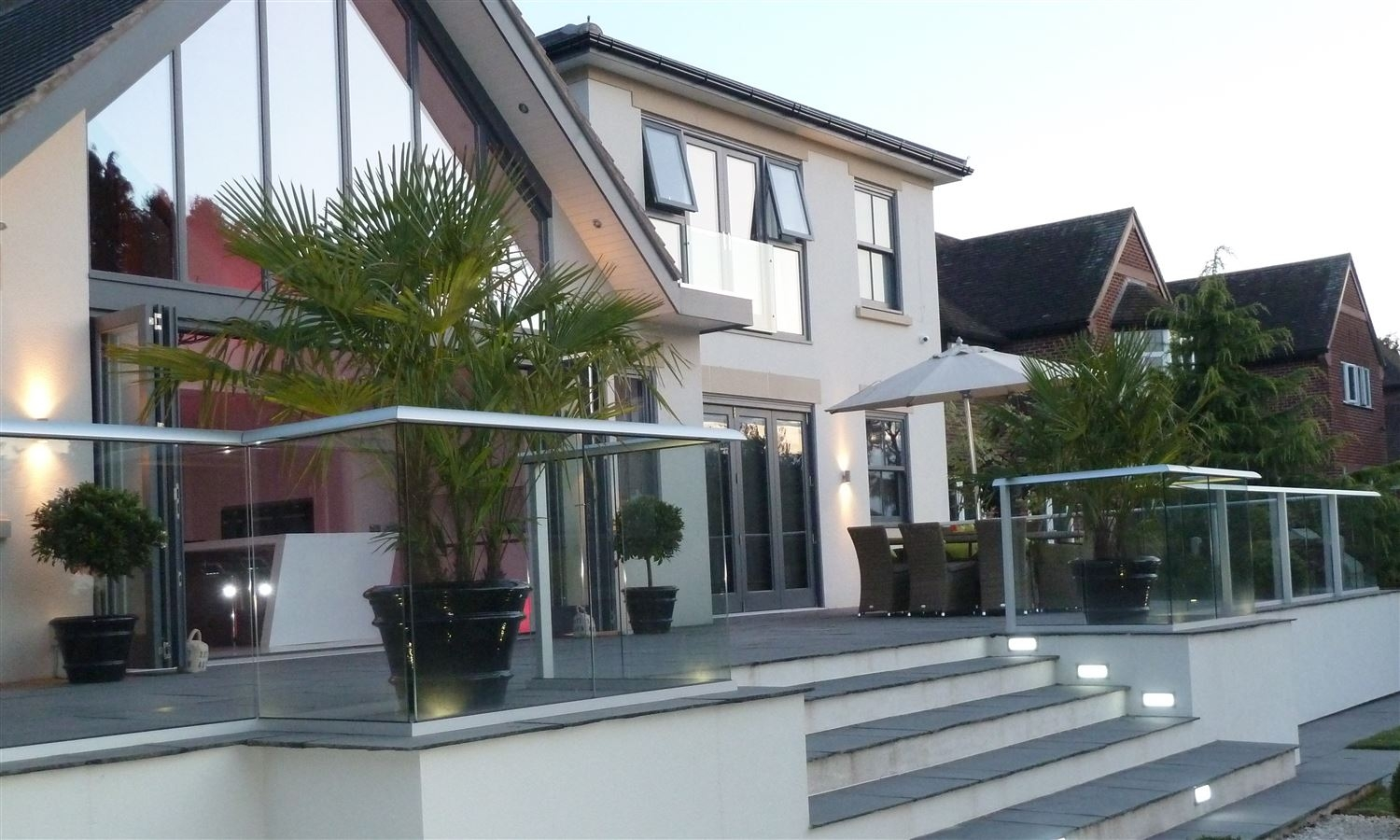 glass balustrade patio