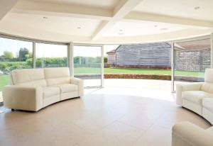 Curved Patio Doors Inside Look