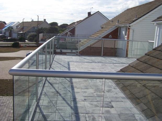 silver balustrade