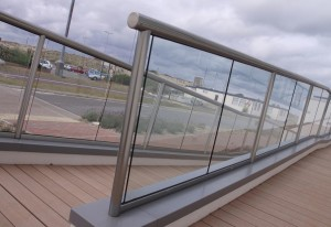 Long Balustrade with Clear Glass