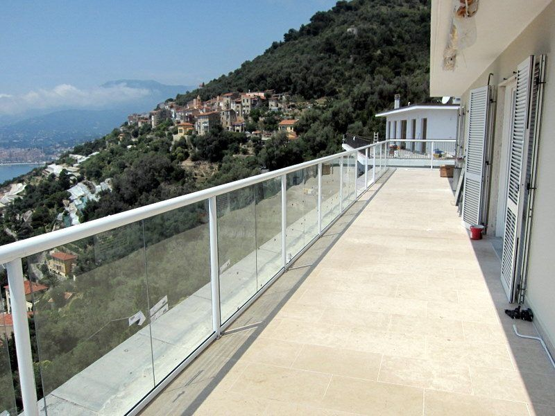 Long White Balustrade