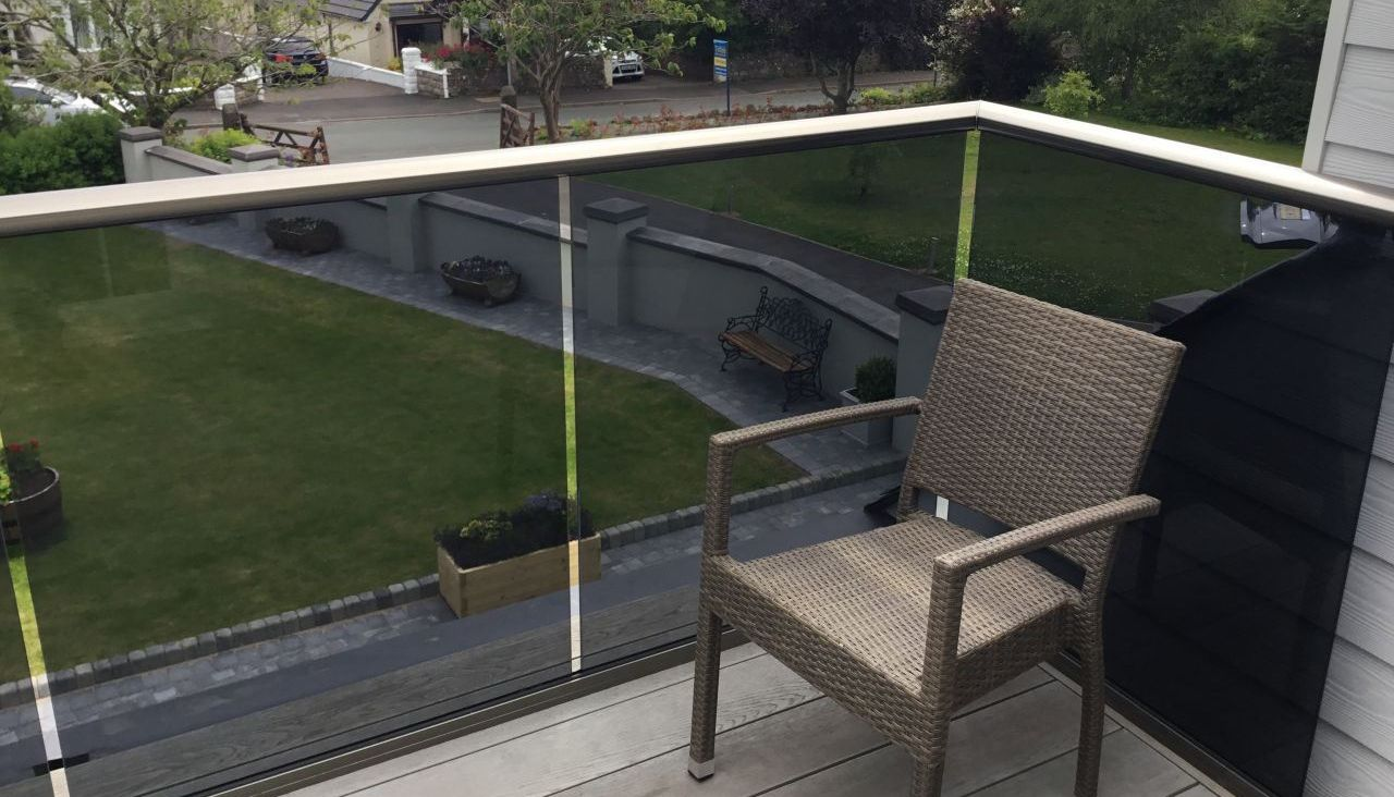 Corner Glass Balustrade