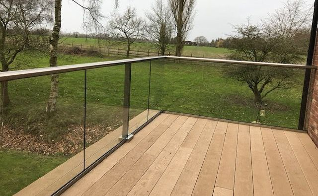Glass Balcony Balustrade in Norfolk