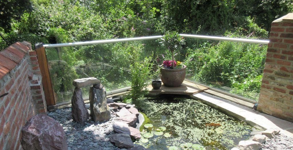 Glass Balustrade Gardening