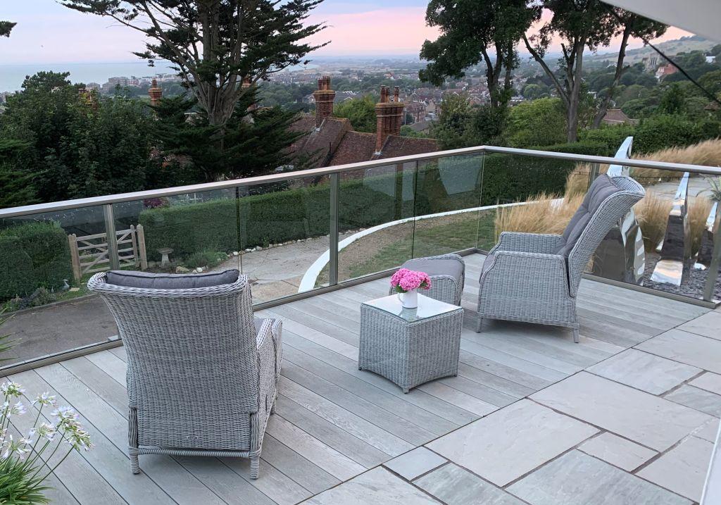 Glass Balustrade on Terrace