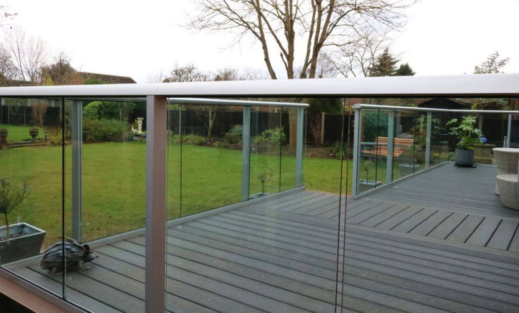 Silver Anodised Glass Balustrades