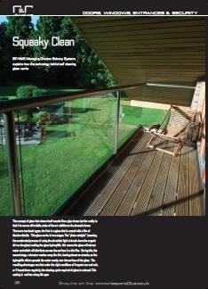 """Balcony's self cleaning glass on """"Refurb & renew"""" magazine"""