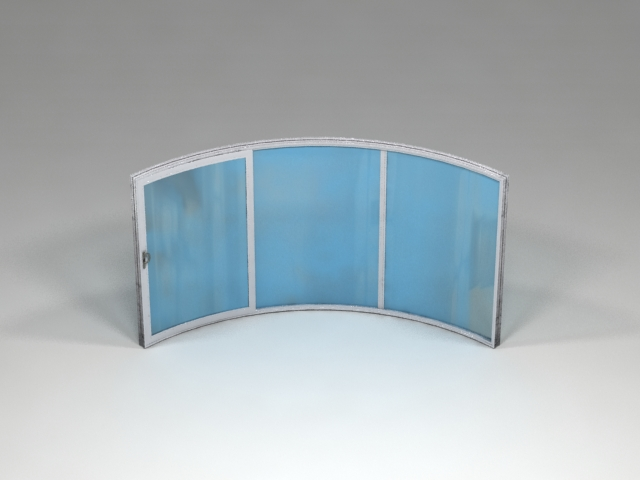 3 sections curved doors