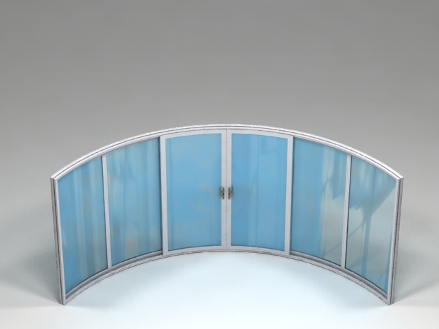 6 sections curved doors
