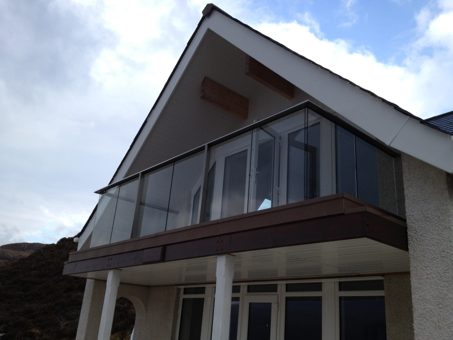 glass balustrades in Scotland