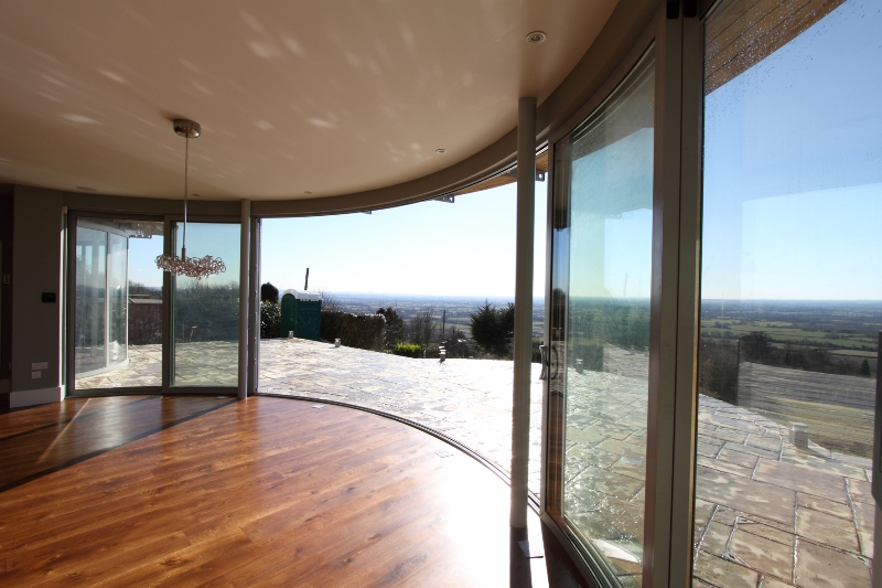 curved patio doors