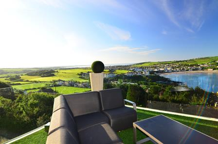 Fully Frameless clear glass balcony with Isle of Man beautiful views
