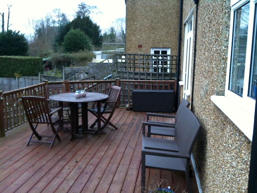 wooden balcony - before the refurbishment