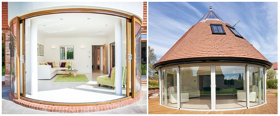 curved doors & Curved Sliding Doors u2013 The Possibilities - Balcony systems